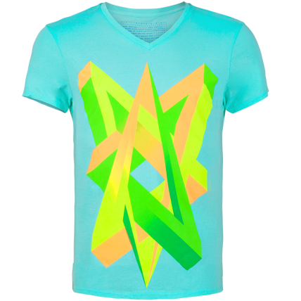 Impossible Love Neon Graphic Men's V-neck t-shirt