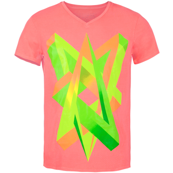 Impossible Love — Neon Graphic V-neck t-shirt by Volga Verdi
