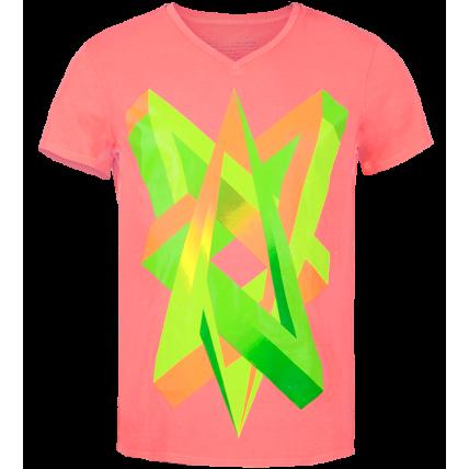 Impossible Love Neon Graphic Men's V-neck t-shirt