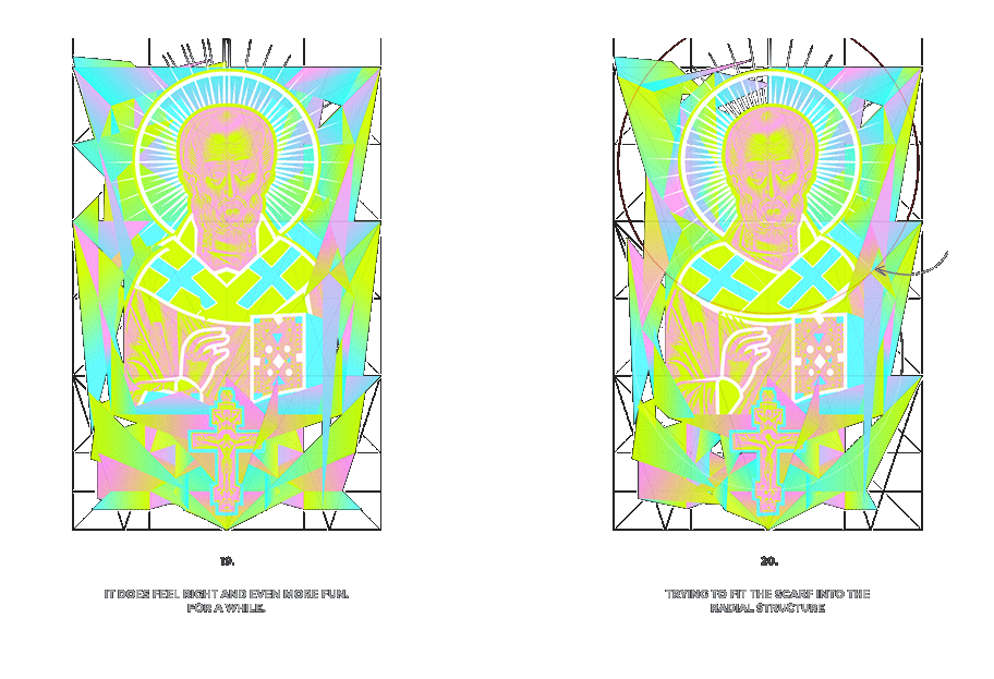 Nicolas neon icon t-shirt print evolution stage 10